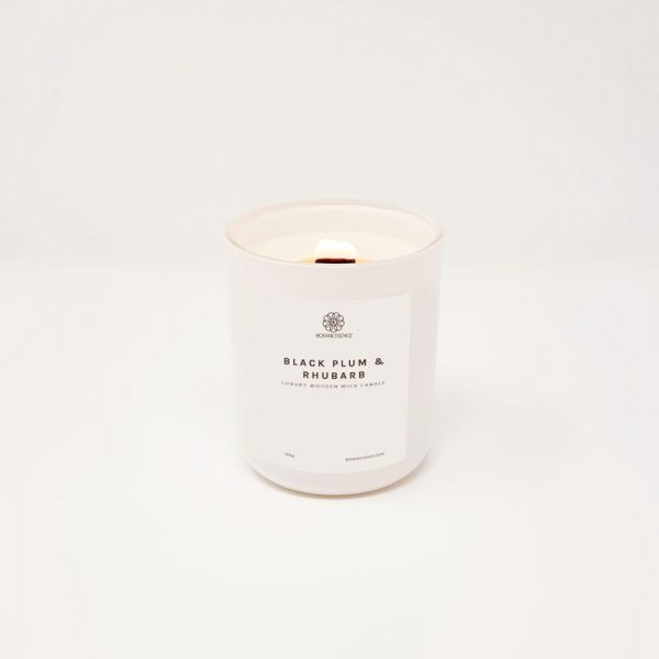 Dark Plum & Rhubarb Candle