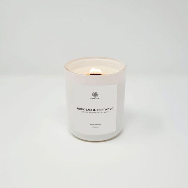 Rock Salt & Driftwood Candle